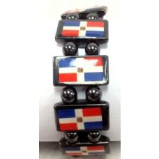 120 Units of Dominican Republic Flag Bracelets - Bracelets
