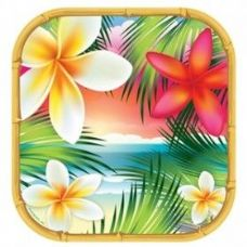 """144 Units of Tropical Paradise7"""" Plate 8CT"""