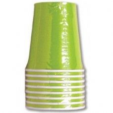 144 Units of Lime Green Solid Cups - 8CT.