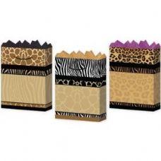 288 Units of Gift-Bag Medium Mat Safari 3 Styles - Gift Bags Assorted