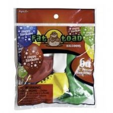 "144 Units of Fat Toad 6CT 12"" B-Day Stars - Balloons/Balloon Holder"