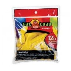 "144 Units of Fat Toad 12CT 12"" Pearl Yellow - Balloons/Balloon Holder"