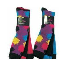 60 Units of Ladies 3 Pack Splattered Paint Knee High Sock - Womens Knee Highs