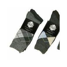 60 Units of Men's 3 Pack Casual Print Dress Socks - Mens Dress Sock
