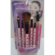 24 Units of 5pc Make-Up Brush and Applicator Set - Cosmetics