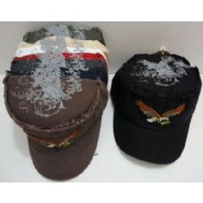 24 Units of Cloth Hat with Flying Eagle