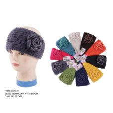 48 Units of HEADBAND WITH BEADS - Ear Warmers