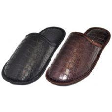 36 Units of Mens Croc Print Slippers - Mens Slippers