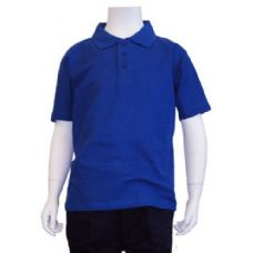 12 Units of Boys School Uniform Polo Shirt Royal Blue Color - Boys School Uniforms