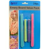 48 Units of Emery Board Value Pack 24 Piece Nail Files
