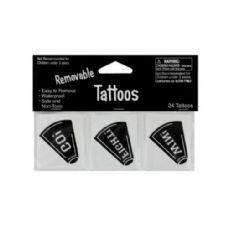 72 Units of 24pk blk tattoos 040260