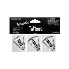 144 Units of 24pk wht tattoos 040272 - Tattoos and Stickers