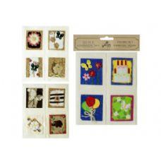 72 Units of 4pk handmade scrap tags - Gift Wrap