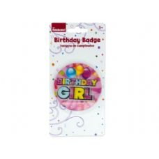 288 Units of holographic girl birthday badge