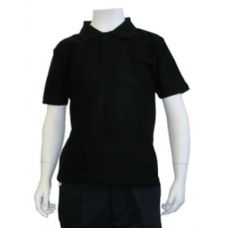 12 Units of Boys School Uniform Polo Shirt Black - Boys School Uniforms