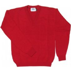 18 Units of Kids School V-Neck Sweater Red Color Only - Boys School Uniforms