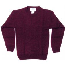 21 Units of Adult Pull Over Sweater Burgundy Only