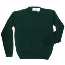 18 Units of  Adult  School Crew Neck Pull Over Sweater Hunter Green Only