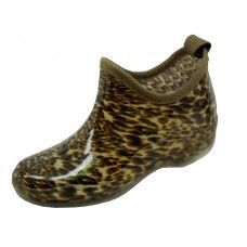 24 Units of Women's Printed Leopard Garden Shoes