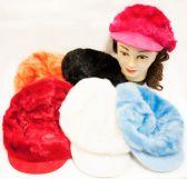 24 Units of Faux Fur Newsboy Hat Fashion Hats - Fashion Winter Hats