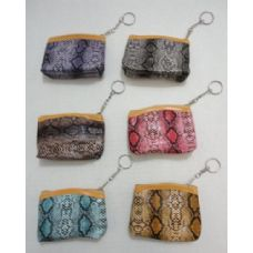 36 Units of Zippered Coin Purse [Snakeskin] - Leather Purses and Handbags