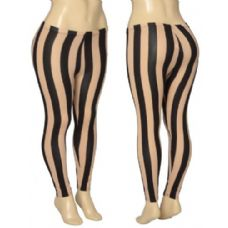 36 Units of Ladies Striped Leggings - Womens Leggings