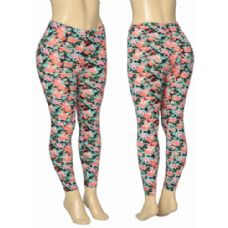 36 Units of Ladies Floral Leggings - Womens Leggings