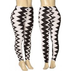 36 Units of Ladies Zig Zag Leggings - Womens Leggings