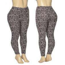 36 Units of Ladies Cheetah Print Leggings - Womens Leggings