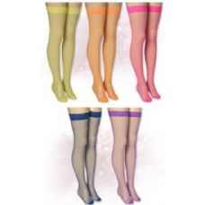 60 Units of Ladies Solid Neon Color Knee High