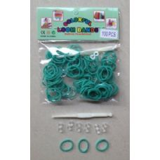144 Units of 100pk Loom Bands [AQUA] - Bracelets