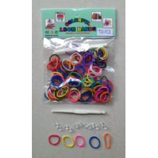 144 Units of 100pk Loom Bands [MULTICOLOR] - Bracelets