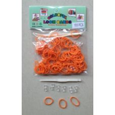 144 Units of 100pk Loom Bands [ORANGE] - Bracelets
