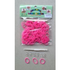 144 Units of 100pk Loom Bands [PINK] - Bracelets