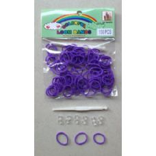144 Units of 100pk Loom Bands [PURPLE] - Bracelets