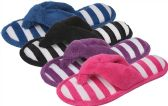 36 Units of Women's Striped Slipper Thongs M-XXL - Womens Slippers