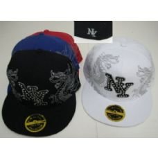 48 Units of Fitted NY Hat with Bling-Dragons