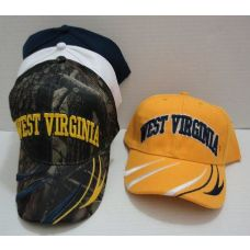 24 Units of WEST VIRGINIA Hat [Stripes on Bill] - Military Caps