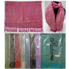 48 Units of Fashion Pashmina with Fringe [Lg Paisley] - Womens Fashion Scarves