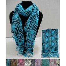 72 Units of Fashion Scarf-Basket Weave - Womens Fashion Scarves