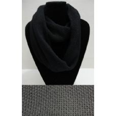 72 Units of Knitted Loop Scarf [Black Only] - Winter Sets Scarves , Hats & Gloves