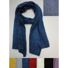12 Units of Knitted Scarf [Loose Knit with Sequins] - Womens Fashion Scarves