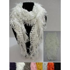 72 Units of Knitted Scarf with Fringe - Womens Fashion Scarves
