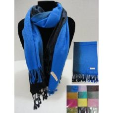 72 Units of Pashmina with Fringe--Color Fade Cheetah Print
