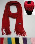12 Units of Scarf/Loop Scarf with Fringe [Loose Knit with Stripes] - Womens Fashion Scarves