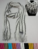 12 Units of Scarf/Loop Scarf with Fringe [Two-Tone] - Winter Scarves