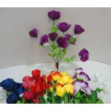 144 Units of 9 Head Silk Flower - Artificial Flowers
