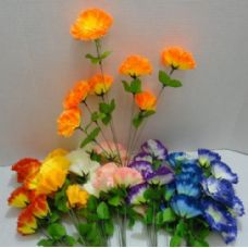 120 Units of  7 Head Silk Flower - Artificial Flowers