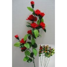 "144 Units of 34"" 10 Head Roses - Artificial Flowers"