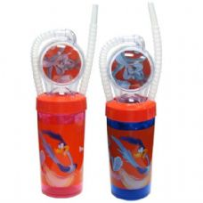 48 Units of Looney Tunes Straw Cup Wheel 11oz - Baby Utensils